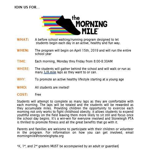 Morning Mile- Ready, Set, & Go