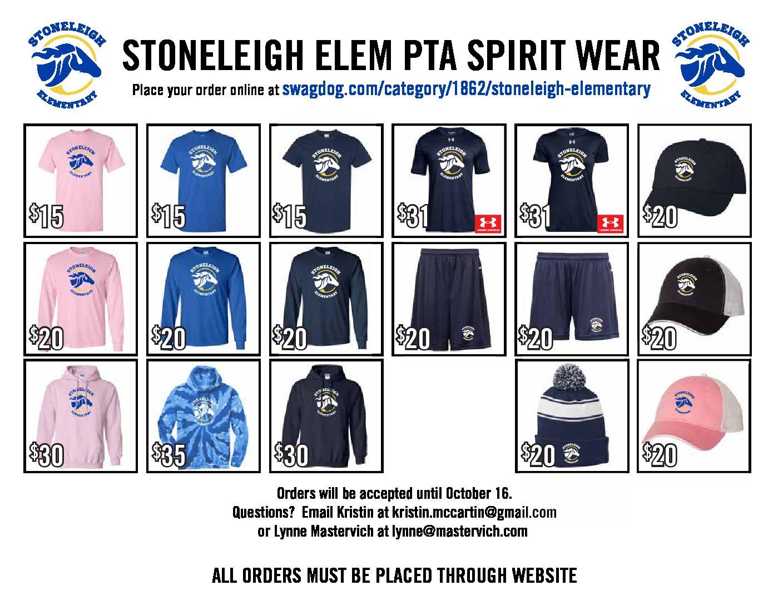 SES Spiritwear site open for orders!
